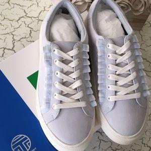 86c65b8c167 Tory Burch Shoes - NIB Tory Sport Tory Burch Blue Ruffle Sneaker - 7